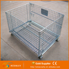 Welded stacking insulated collapsible metal cage