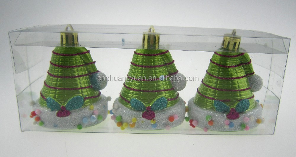 Plastic christmas decorated hats for christmas trees
