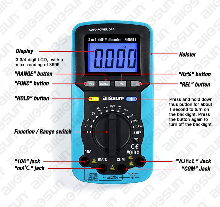 All-sun EM5511 Digital Multimeter