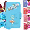 Factory Price !!! Elegant Rhinestone Flip Leather Case for LG G3/ D850