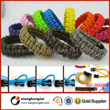 2014 wholesale stainless steel paracord bracelet leather bracelet with strong magnet