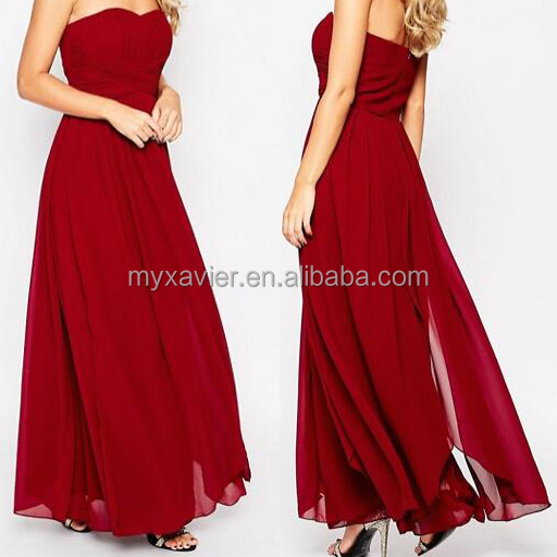 fashion elegant evening dress with sweetheart neck zip back fastening women dress maxi dress