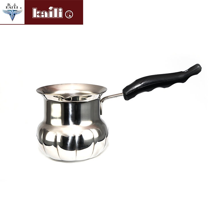 SS201 Stainless Steel Milk tea coffee boiling warming Mini Cooking Pot with handle