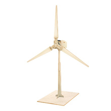 Wooden solar windmill model toy with EN71