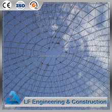 Large Space steel structure dome tempered glass roof