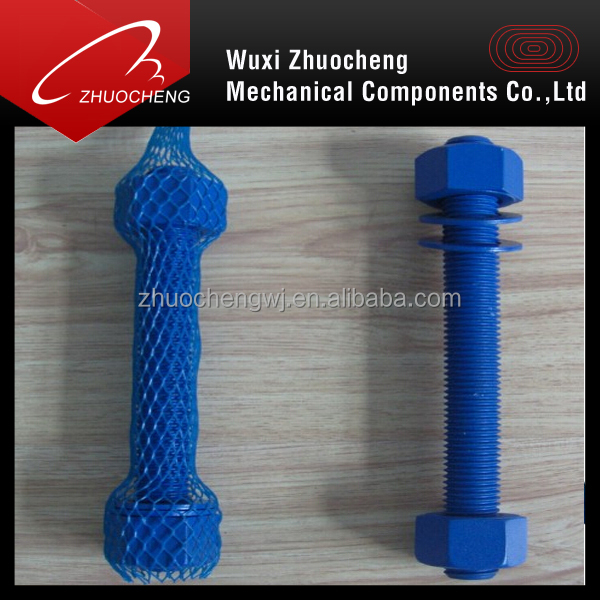 ptfe stud bolt with nuts and washers