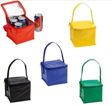 wholesale promotion 5 colors handle style insulated cooler lunch bag for cans storing