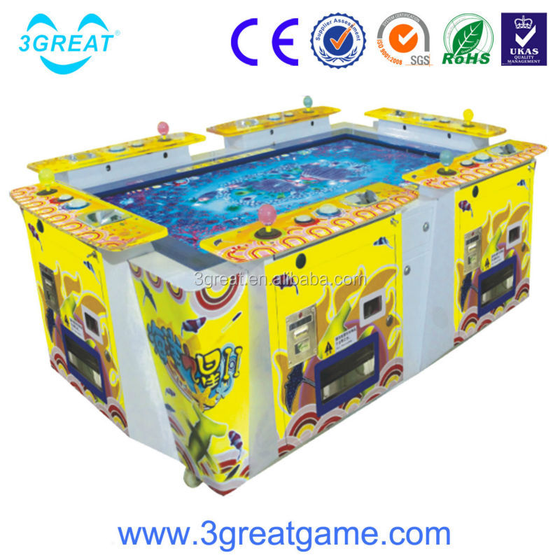 Coin Operated 6 players fishing season game machine for game center