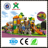 Outdoor Playhouse castle wholesale playground covers playground soft ground for children QX-09A