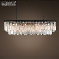 Modern Pendant Light Fixture Rectangle Crystal Hanging Lamp Popular Drop Lamparas Lving room Hotel Project Cafe MD81644