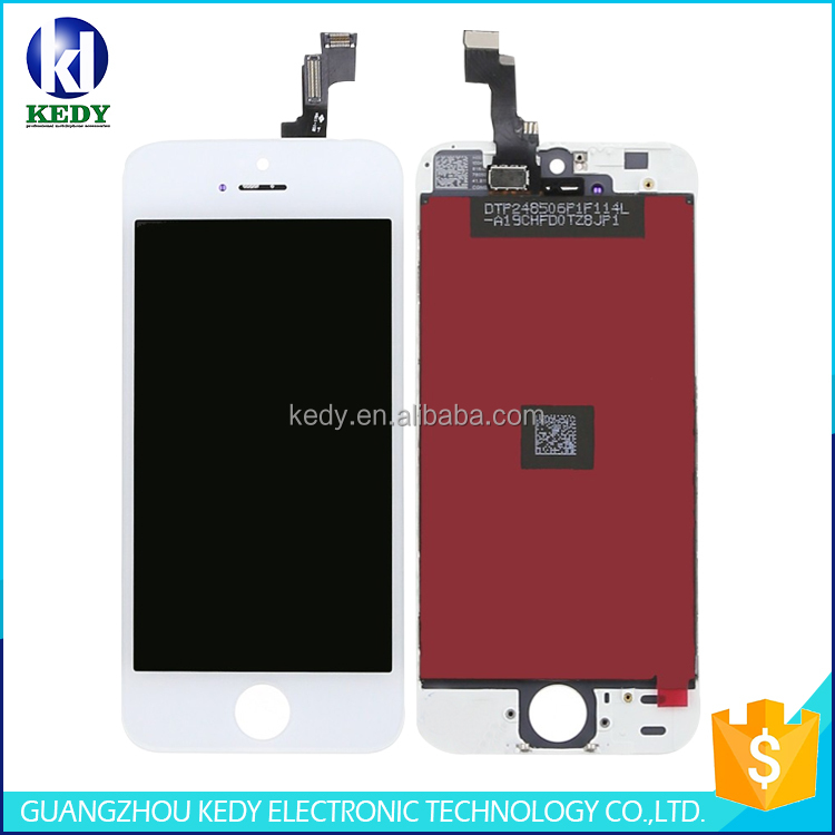 china supplier mobile phone lcd assembly display with touch digitizer for iphone 5