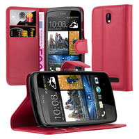 Book Wallet Phone Case Cover With Card Slots For HTC Desire 500