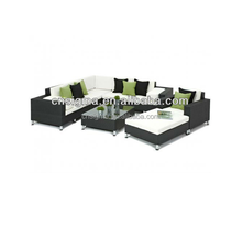 2014 Hot Sale Exclusive Black 8 Piece Outdoor Wicker garden furniture spain