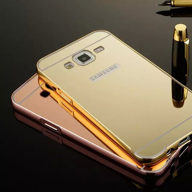 Factory Hot Sales Aluminium Mirror Case For Samsung J5, PC Back Cover Phone Case For Samsung J5