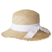 Cheap Custom skimmer colombian boater straw hat