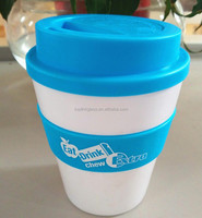 Free sample 12oz plastic keep hot cup coffee mug with silicon lid with FDA certfication