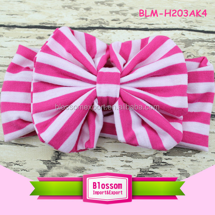 New arrival boutique headbands children infant cotton girl headbands with bows