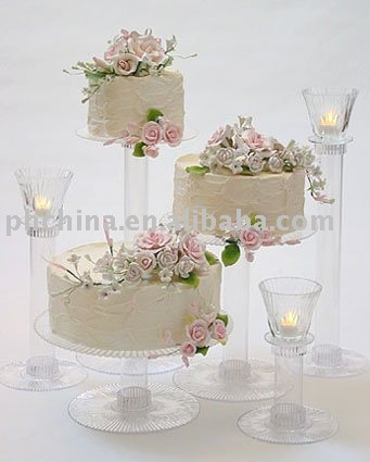 LY-143 New Design Guangdong Supplier Decoration Folding Acrylic Wedding Cake Stand