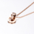 2019 New Fashion Rose Gold Plated Stainless Steel Roman Numerals 목걸이