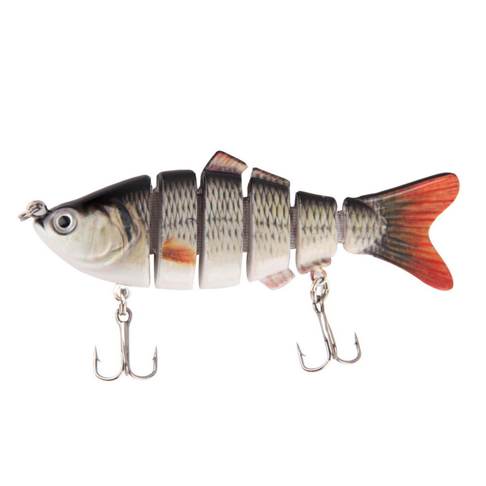 10cm/20g Lifelike 6 Segments Swimbait Fishing Lure Crankbait Hard Bait Fish Treble Hook Fishing Tackle