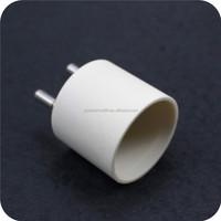 high temperature resistance steatite holder insulating halogen lamp ceramic base