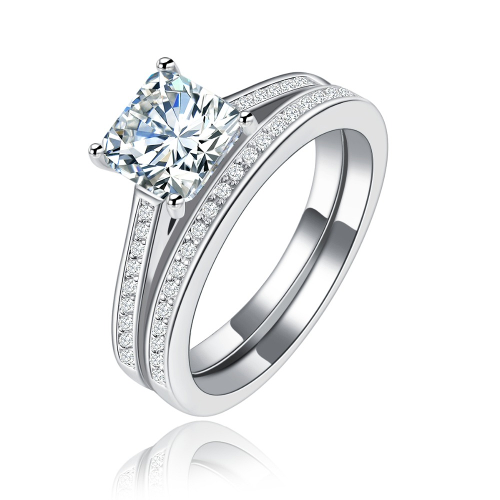 Europe high-grade platinum plated tide ring high quality zircon <strong>R120</strong>