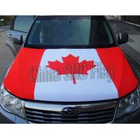custom print logo funny promotion display car flag headrest cover