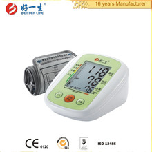 Arm digital back light LCD home blood pressure monitor price