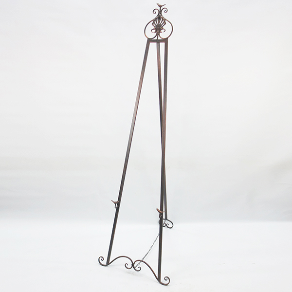 simple design wrought iron floor display easel made in China