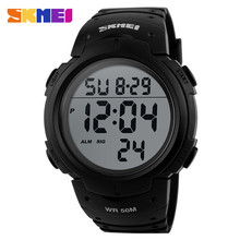 Lcd accessories simple 50m wr chronograph clock #1068 skmei digital sports watch 2017