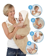 Baby Gift Eco Friendly And Antibacterial Organic Cotton Baby Hooded Towel