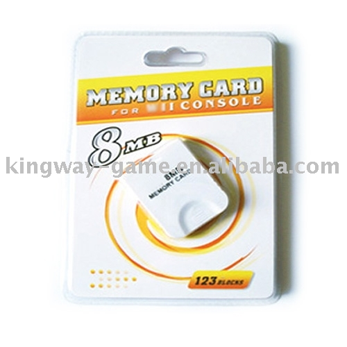 8M Memory Card for wii