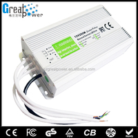 2015 60w waterproof constant voltage waterproof led strip light power supply