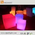 Wireless Control Plastic Luminous Furniture Outdoor use LED Cube 40cm