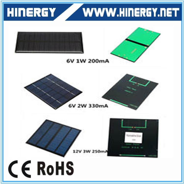 Glass laminated no frame 3W 9V 350mA solar panel