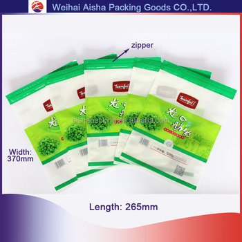 Resealable Customized Printing Foods Packaging Zipper Pouch