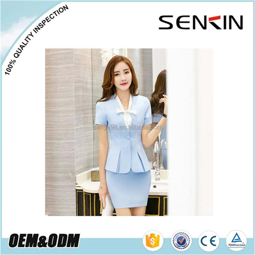 2016 Office Lady's Fashion Business Work Uniform oem suits office uniform designs for women OEM