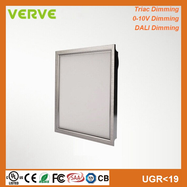 Recessed 40w 60w square led ceiling light 60x60 with 1-10v/dali/triac dimming
