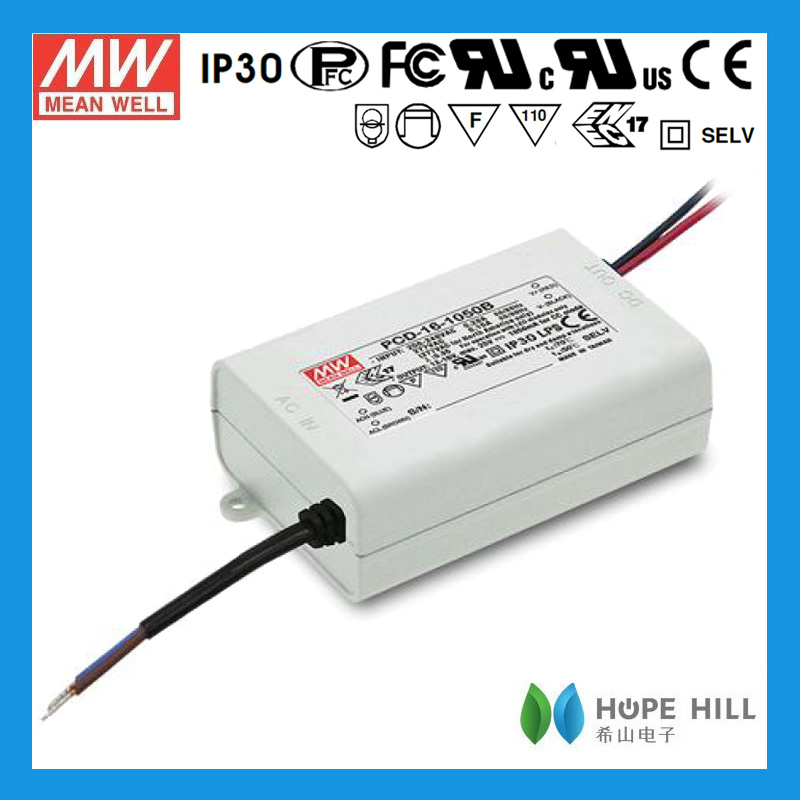 Original MEAN WELL 16W Single Output AC Dimmable LED Power Supply PCD-16-1400
