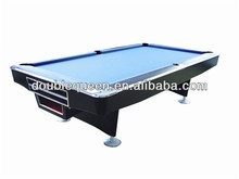 9ft outdoor Pool Table with Solid wood and slate board