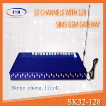 big promotion SK 32 ports with 128 simcards GOIP gateway support IMEI change gsm sip gateway