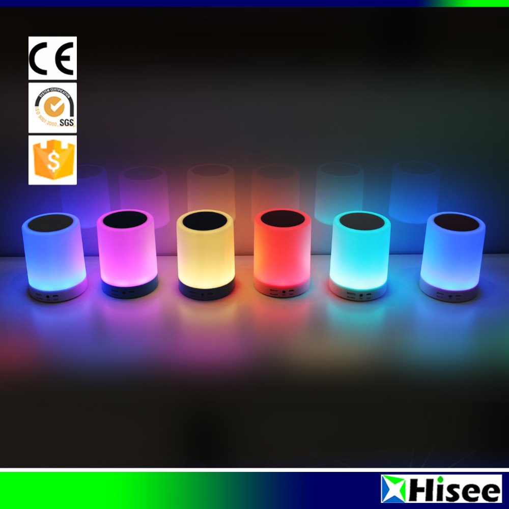 Wholesale cheap smart portable super bass bluetooth wireless speaker with colorful LED light