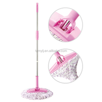 Twist floor mop 220g microfiber head stainless steel handle