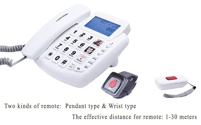 hearing aid big button home phone for hearing