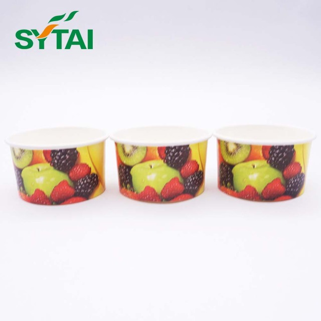 Biodegradable Ice Cream Paper Cup/Disposable Yogurt Paper Cup/Food Grade Paper Bowls