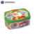 Factory direct sale wholesale christmas metal biscuit cookie tin box