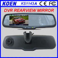 High Quality 4.3'' 1080P Rearview Mirror Car Front And Rear Camera Dash Cam