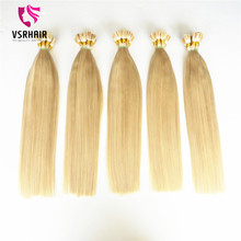 "top quality real hair extensions 22"" blonde hair ,virgin cuticle aligned hair"