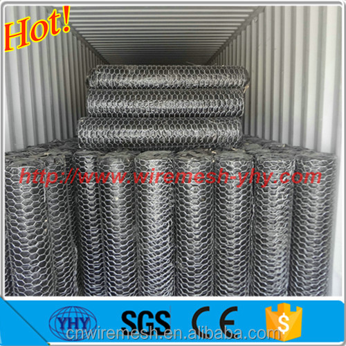 galvanized hexagonal wire mesh / double twisted hexagonal mesh