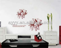 Flowers everywhere of true love removable wall sticker adesivo parede wandsticker wandaufkleber sticker mural autocollant mural